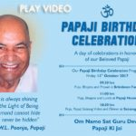 PAPAJI BIRTHDAY – 13 Oct 2017