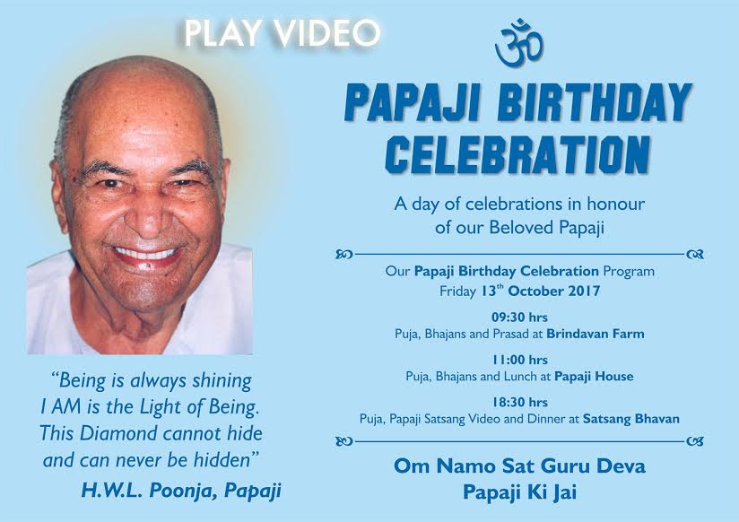 PAPAJI BIRTHDAY – 13 Oct 2017